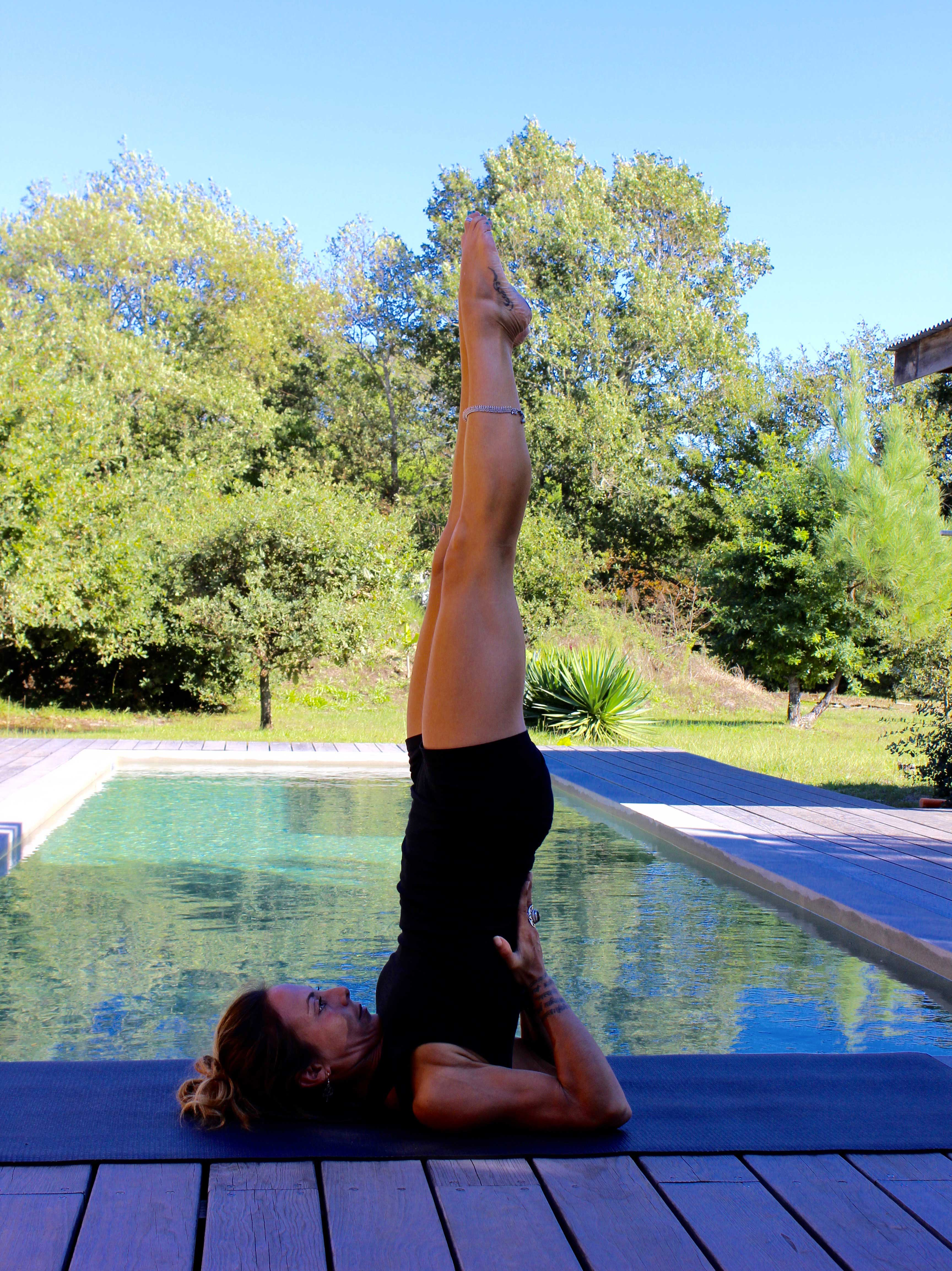 Yoga postures inversion