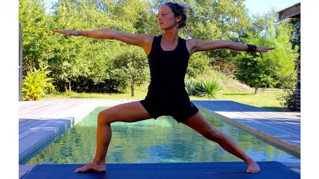 Yoga posture debout:Virabadrasana 2