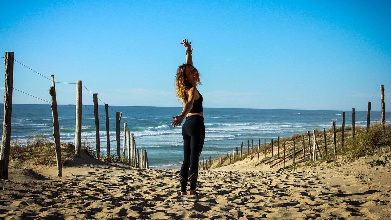 yoga messanges, yoga landes, cours de yoga, cours yoga plage, prof de yoga